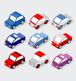 isometric set cars vector image vector image