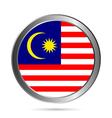 Malaysia flag button vector image vector image