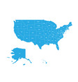 map of united states of america with state names vector image vector image
