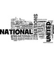 nations word cloud concept vector image