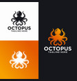 octopus logo design templates stock vector image