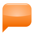 Orange glossy speech bubble blank location icon vector image vector image