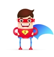 power superhero cartoon vector image