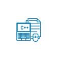 program coding linear icon concept program coding vector image