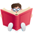 reading kid vector image vector image