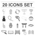 religion and belief monochrome icons in set vector image vector image