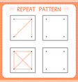 repeat pattern preschool worksheet for practicing vector image vector image