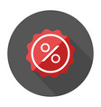 Sale flat design label percent icon