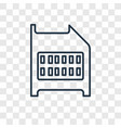 sd card concept linear icon isolated on vector image