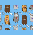 seamless cartoon children s pattern vector image vector image