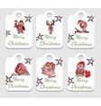 set of christmas tags in vector image