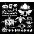 set of medieval heraldry vector image vector image
