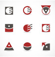 Set of symbols for logo vector image vector image