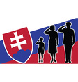 Slovakia soldier family salute vector image vector image