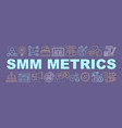 smm metrics word concepts banner vector image vector image