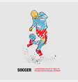 soccer player fights with ball on heel vector image vector image