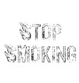 stop smoking stamp on white vector image