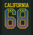 typography varsity california vector image