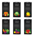 vegetable banner set vector image vector image