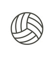 volleyball ball icon line beach game symbo vector image