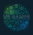 vr games round concept colorful outline vector image