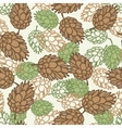 Winter seamless pattern with stylized pine cones vector image vector image