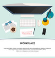 workplace design motivation quote flat vector image