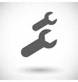 Wrench single flat icon vector image vector image