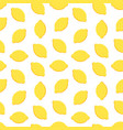 yellow lemons seamless pattern background vector image