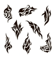 set of abstract silhouette tattoo vector image