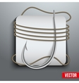 Realistic fishing hook vector image