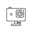 action camera adventure thin line icon symbol vector image vector image