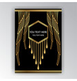 art deco template golden-black a4 page menu card vector image vector image