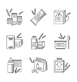 Baby food line icons set vector image vector image