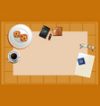background study desk template vector image vector image