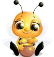 beautiful bee that eats honey vector image vector image