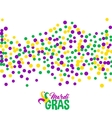Bright abstract dot mardi gras pattern vector image vector image