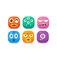 collection of bright buttons emoticons with vector image vector image