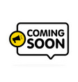 coming soon sign with announcement megaphone flat vector image vector image