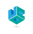 cube logo concept flat vector image vector image