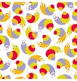 Cute seamless pattern with small snails vector image