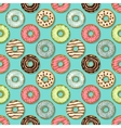 donuts seamless pattern on blue background vector image vector image