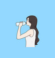 drinking water and healthy lifestyle concept vector image