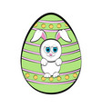 easter egg with a cute bunny cartoon vector image