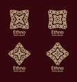 ethnic signs and design elements vector image vector image