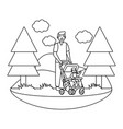 father with bacarriage vector image vector image
