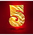 figure 5 made golden crumpled foil vector image vector image