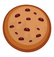 filled biscuit icon flat style vector image vector image