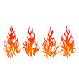 fire icon set design element vector image vector image