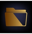 Folder sign Golden style icon vector image vector image